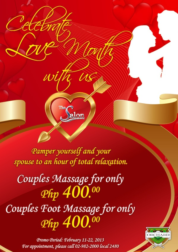 valentine's couples massage promo from the salon – the orchard, Ideas